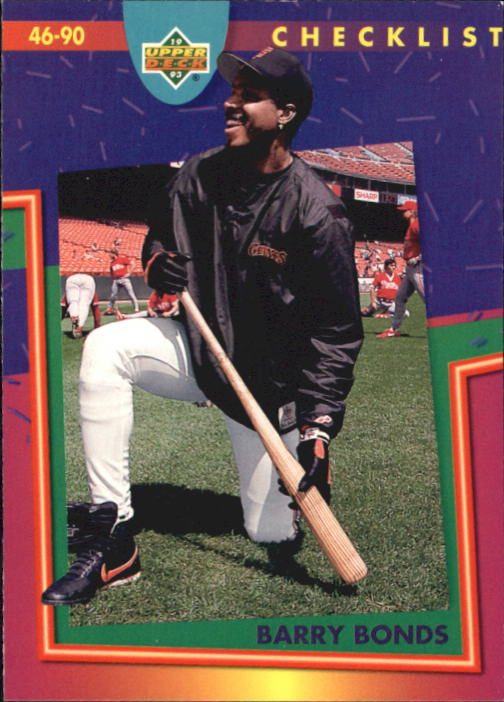 1993 Fun Pack #222 Barry Bonds CL