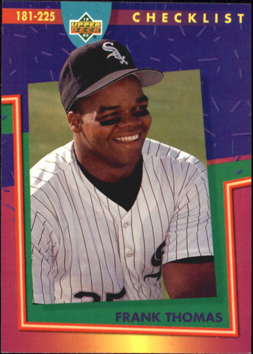 1993 Fun Pack #225 Frank Thomas CL