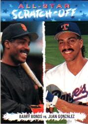 1993 Fun Pack All-Stars #AS7 J.Gonzalez/B.Bonds