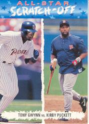 1993 Fun Pack All-Stars #AS9 K.Puckett/T.Gwynn