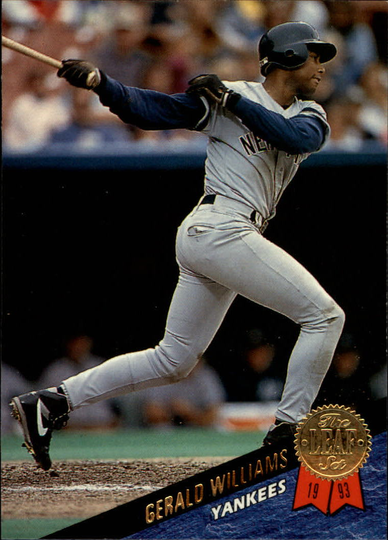 1993 Leaf #130 Gerald Williams UER/(Bernie Williams/picture and