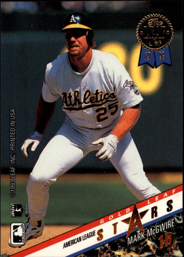 1993 Leaf Gold All-Stars #R11 M.McGwire/W.Clark