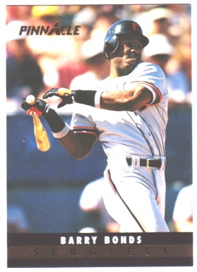 1993 Pinnacle Slugfest #6 Barry Bonds