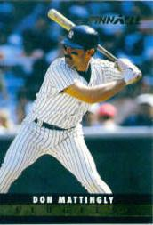 1993 Pinnacle Slugfest #23 Don Mattingly