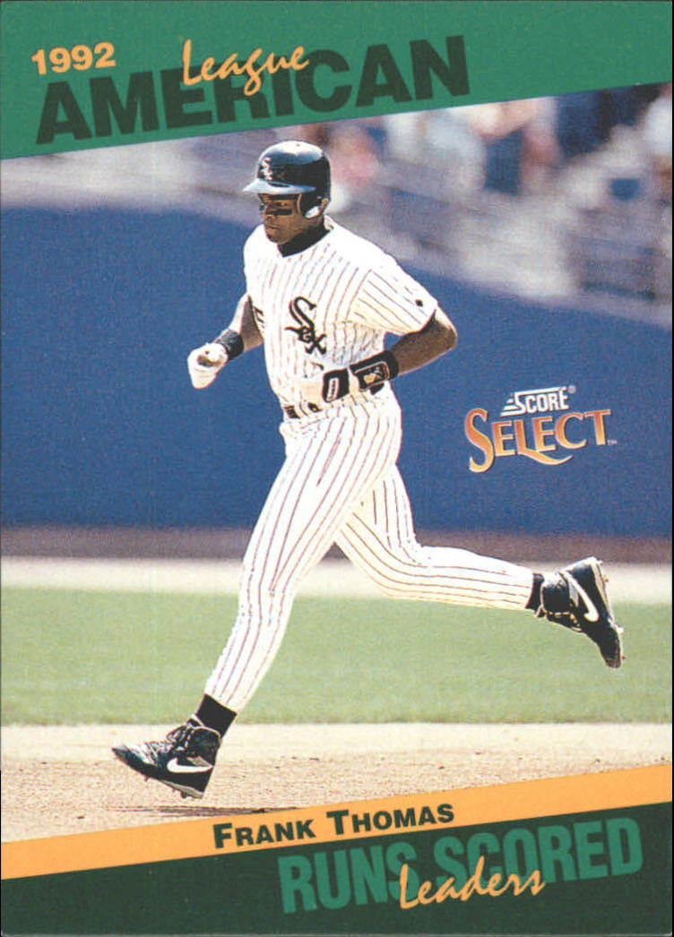 1993 Select Stat Leaders #38 Frank Thomas