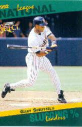 1993 Select Stat Leaders #47 Gary Sheffield