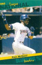 1993 Select Stat Leaders #48 Fred McGriff