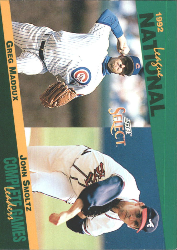 1993 Select Stat Leaders #66 G.Maddux/J.Smoltz