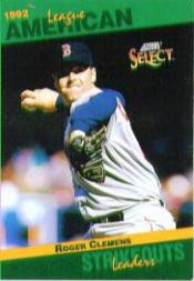 1993 Select Stat Leaders #75 Roger Clemens