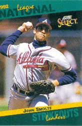 1993 Select Stat Leaders #76 John Smoltz