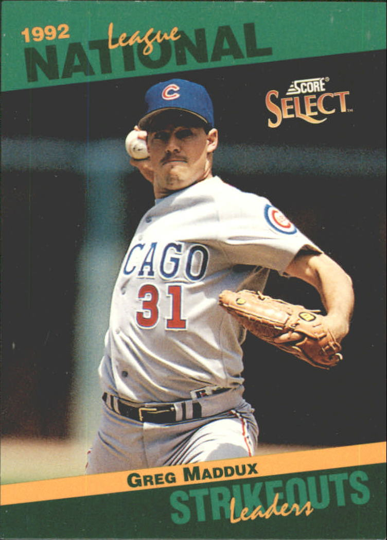 1993 Select Stat Leaders #78 Greg Maddux