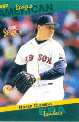 1993 Select Stat Leaders #79 Roger Clemens
