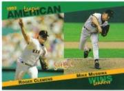 1993 Select Stat Leaders #87 R.Clemens/M.Mussina