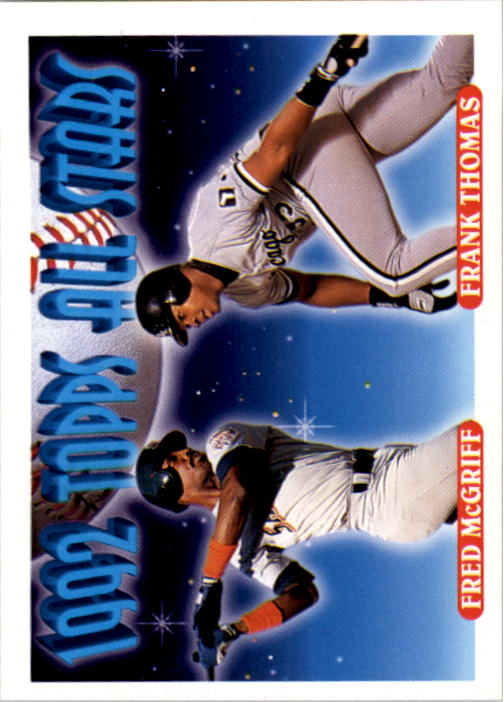 1993 Topps #401 F.McGriff/F.Thomas AS