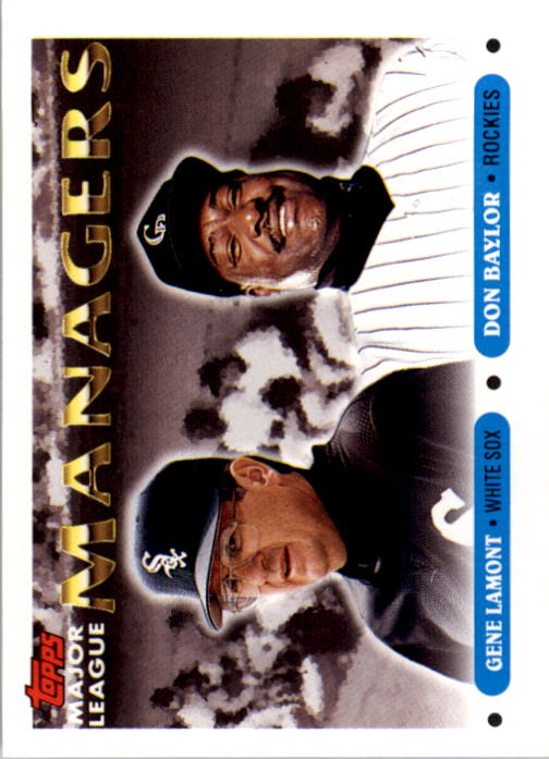 1993 Topps #504 Gene Lamont MG/Don Baylor MG