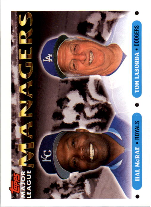 1993 Topps #507 Hal McRae MG/Tom Lasorda MG