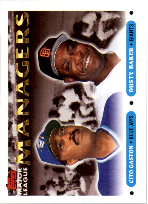 1993 Topps #514 Cito Gaston MG/Dusty Baker MG
