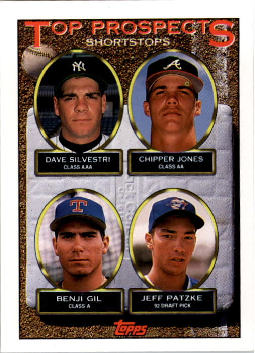 1993 Topps #529 Dave Silvestri/Chipper Jones/Benji Gil/Jeff Patzke