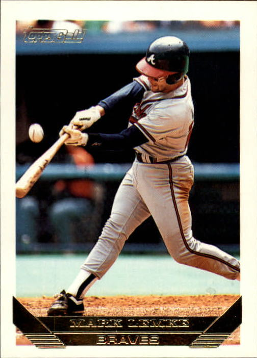 1993 Topps Gold #116 Mark Lemke