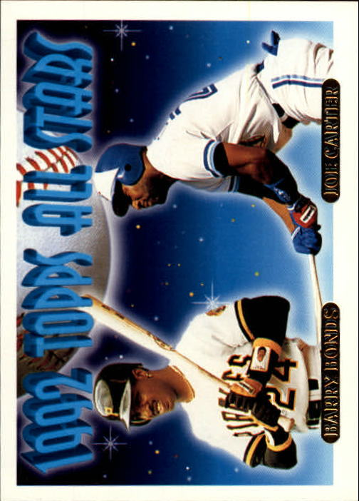1993 Topps Gold #407 B.Bonds/J.Carter AS
