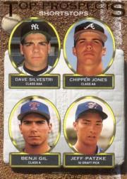 1993 Topps Gold #529 Dave Silvestri/Chipper Jones/Benji Gil/Jeff Patzke