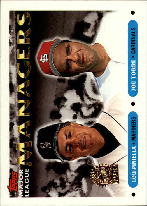 1993 Topps Inaugural Marlins #512 Lou Piniella MG/Joe Torre MG