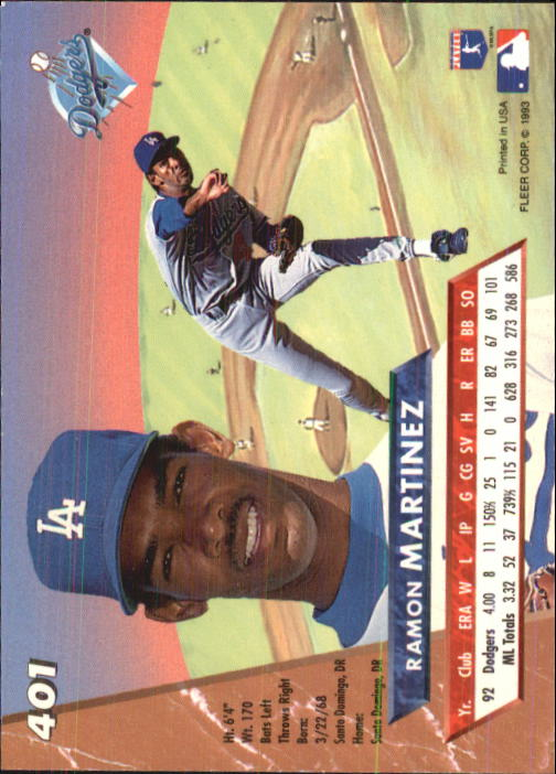 1993 Ultra #401 Ramon Martinez