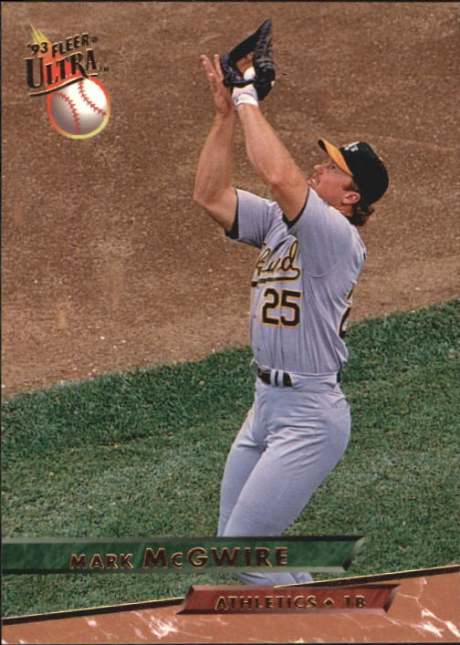 1993 Ultra #609 Mark McGwire front image