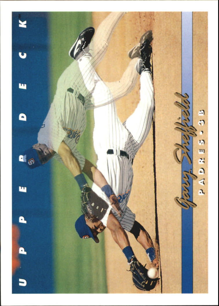 1993 Upper Deck Gold Hologram #222 Gary Sheffield 2X