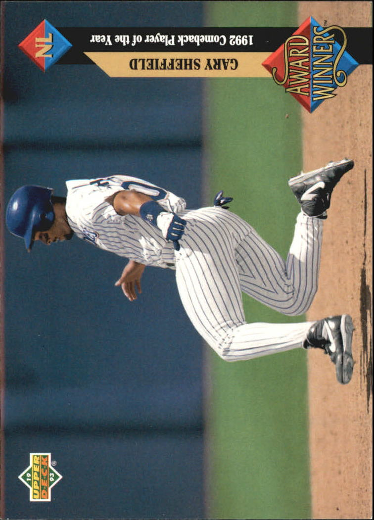 1993 Upper Deck Gold Hologram #492 Gary Sheffield AW