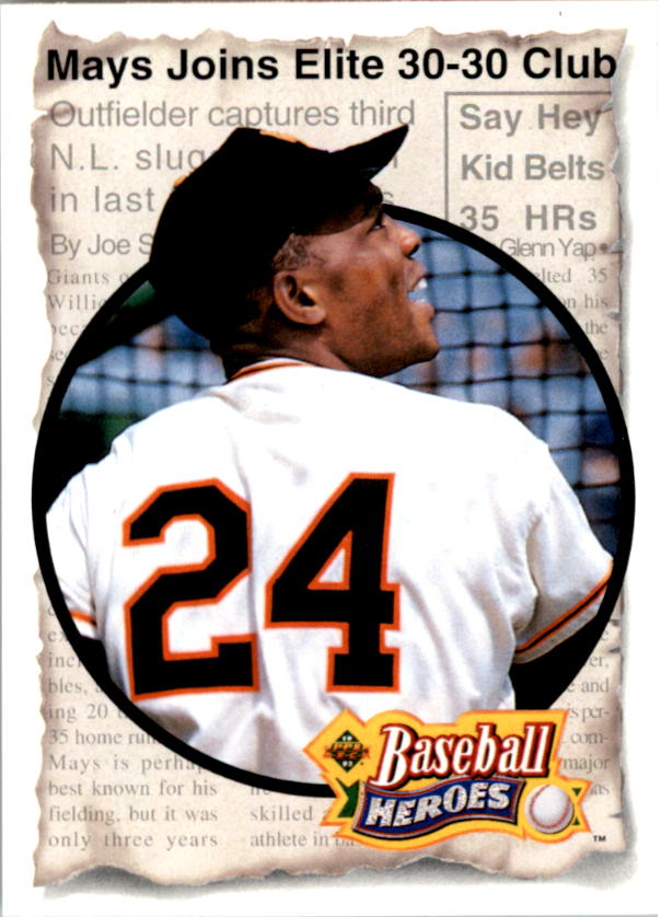 1993 Upper Deck Mays Heroes #48 1956-57 30-30 Club