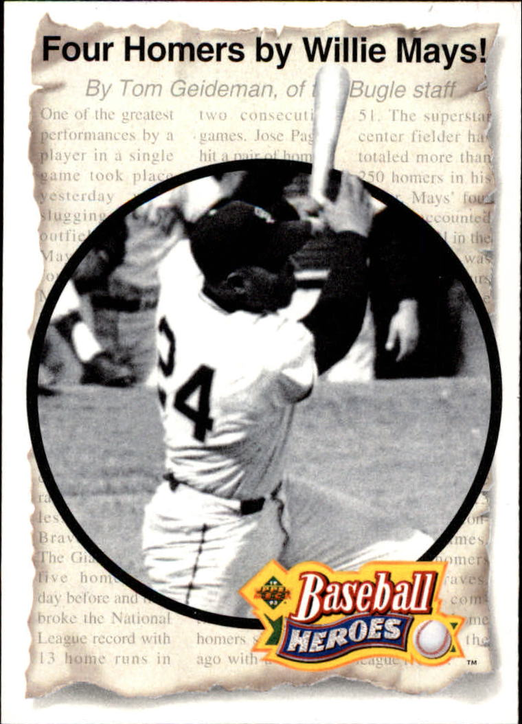 1993 Upper Deck Mays Heroes #49 1961 Four-Homer Game front image