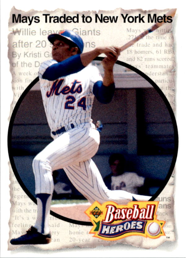 1993 Upper Deck Mays Heroes #52 1972 New York/Homecoming front image