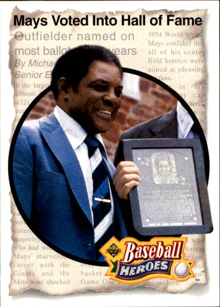 1993 Upper Deck Mays Heroes #53 1979 Hall of Fame front image