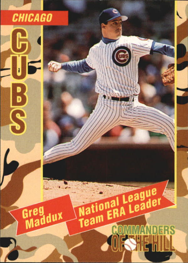 1993 Topps Commanders of the Hill #19 Greg Maddux