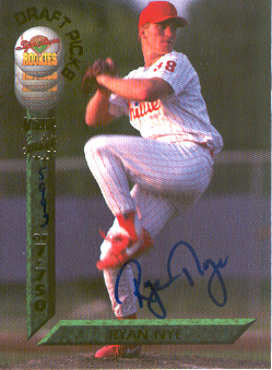 1994 Signature Rookies Draft Picks Signatures #49 Ryan Nye