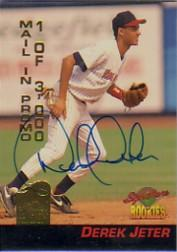 1994 Signature Rookies Hottest Prospects Mail-In Promos Signatures #S4 Derek Jeter