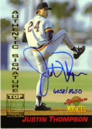 1994 Signature Rookies Signatures #25 Justin Thompson
