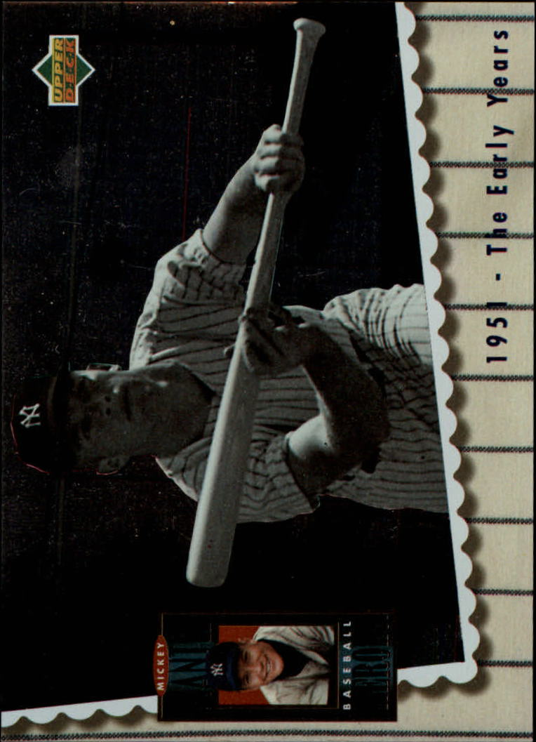 1994 Upper Deck Mantle Heroes #64 Mickey Mantle/1951 The Early Years