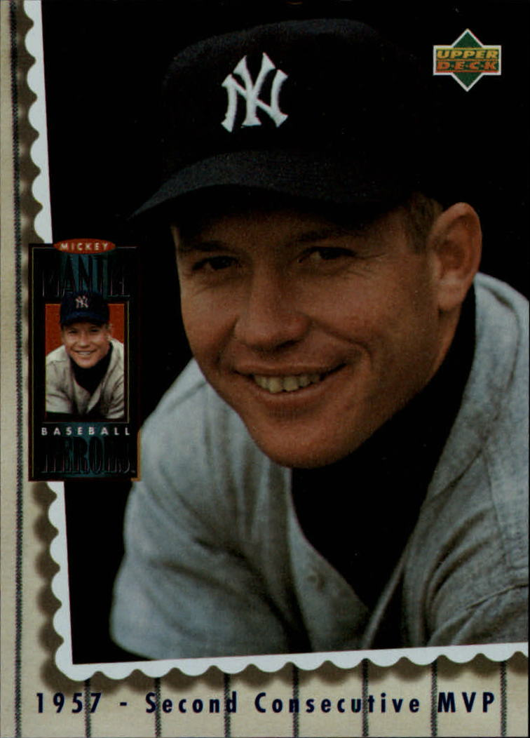 1994 Upper Deck Mantle Heroes #67 Mickey Mantle/1957 Second Consecutive/MVP