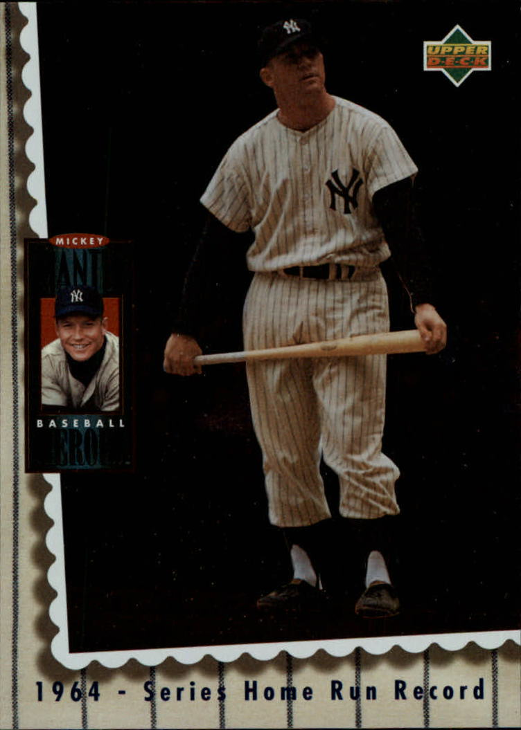 1994 Upper Deck Mantle Heroes #69 Mickey Mantle/1964 Series Home Run/Record