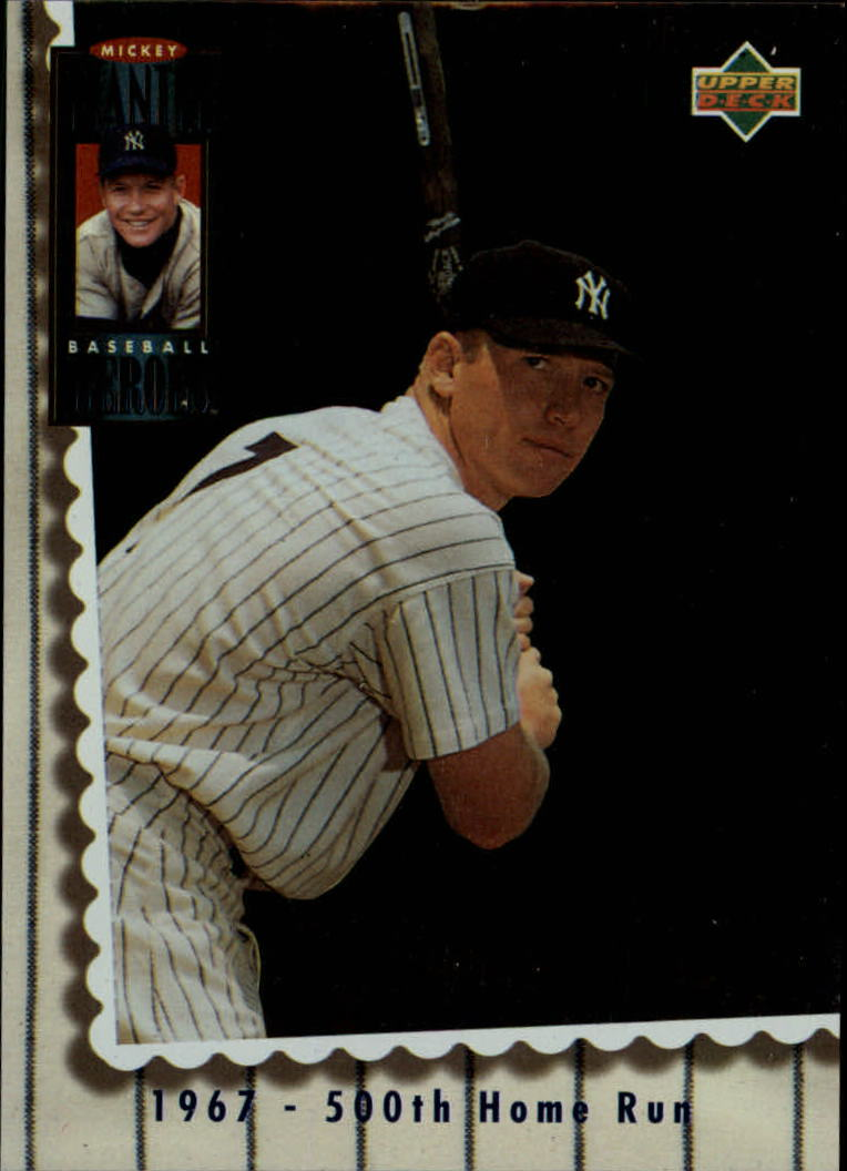 1994 Upper Deck Mantle Heroes #70 Mickey Mantle/1967 500th Home Run