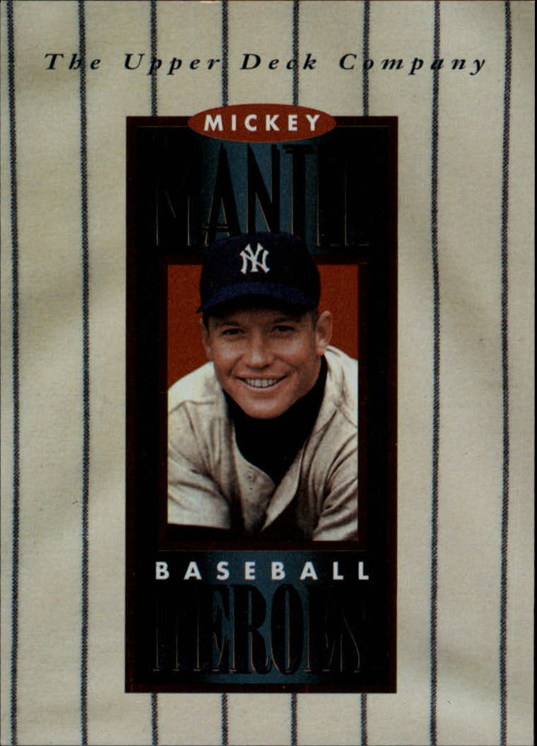 1994 Upper Deck Mantle Heroes #NNO Mickey Mantle/Header Card