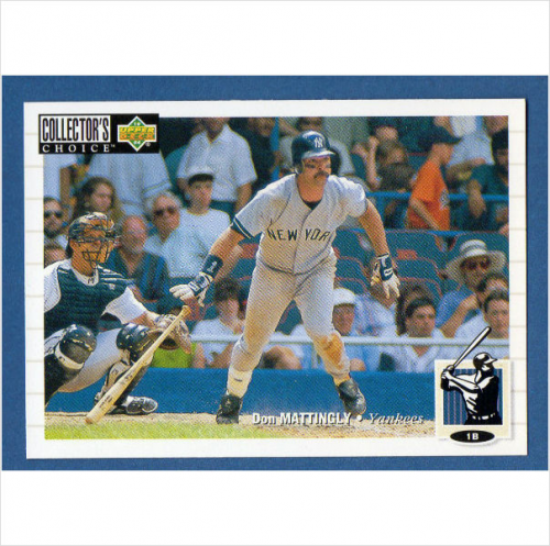 1994 Collector's Choice #192 Don Mattingly front image