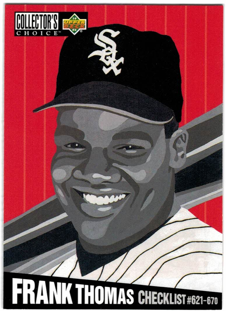 1994 Collector's Choice #327 Frank Thomas CL