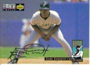 1994 Collector's Choice Silver Signature #6 Carl Everett