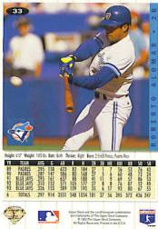 1994 Collector's Choice Silver Signature #33 Roberto Alomar