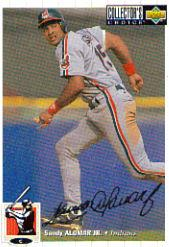 1994 Collector's Choice Silver Signature #34 Sandy Alomar Jr.