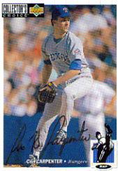 1994 Collector's Choice Silver Signature #73 Cris Carpenter