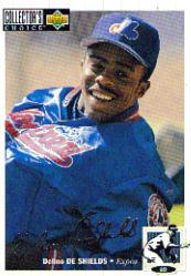 1994 Collector's Choice Silver Signature #92 Delino DeShields